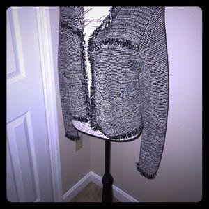 Chico's fringed jacket size 0.